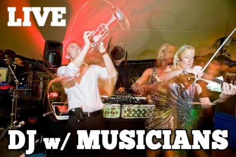 DJ with Live Musicians